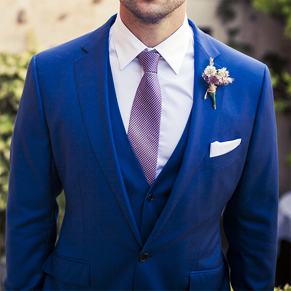Picture of Petrol blue three-piece suit