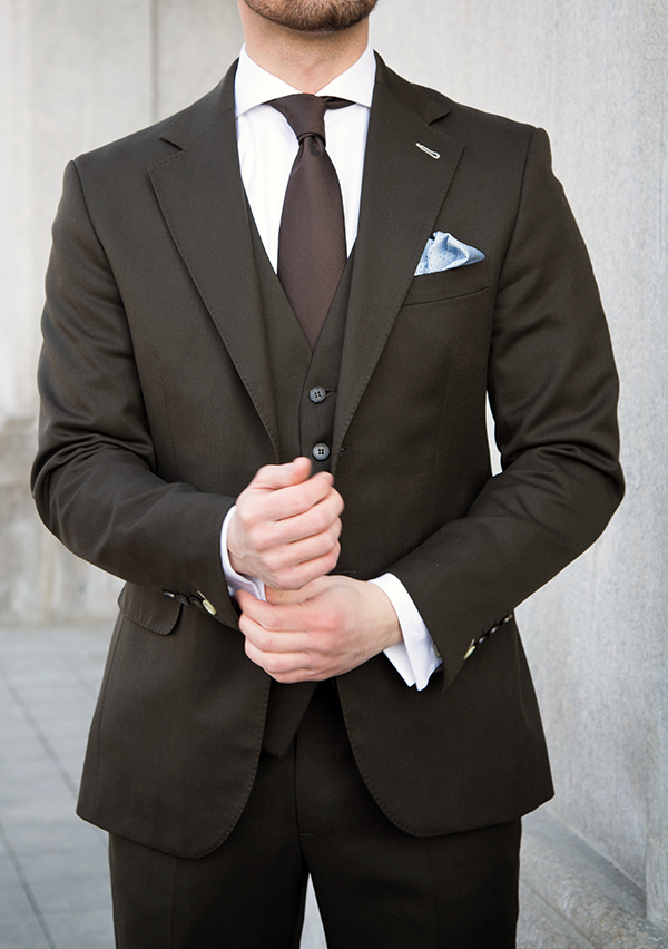 Picture of Brown Three Piece Suit
