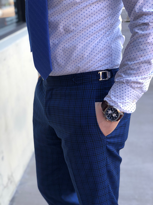 Picture of Blue Check Two Piece Suit
