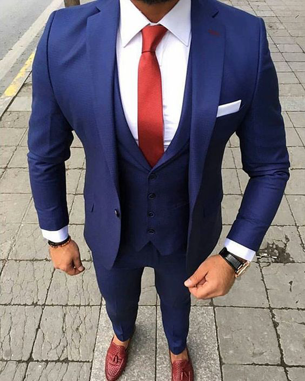 Picture of Blue Three Piece Suit