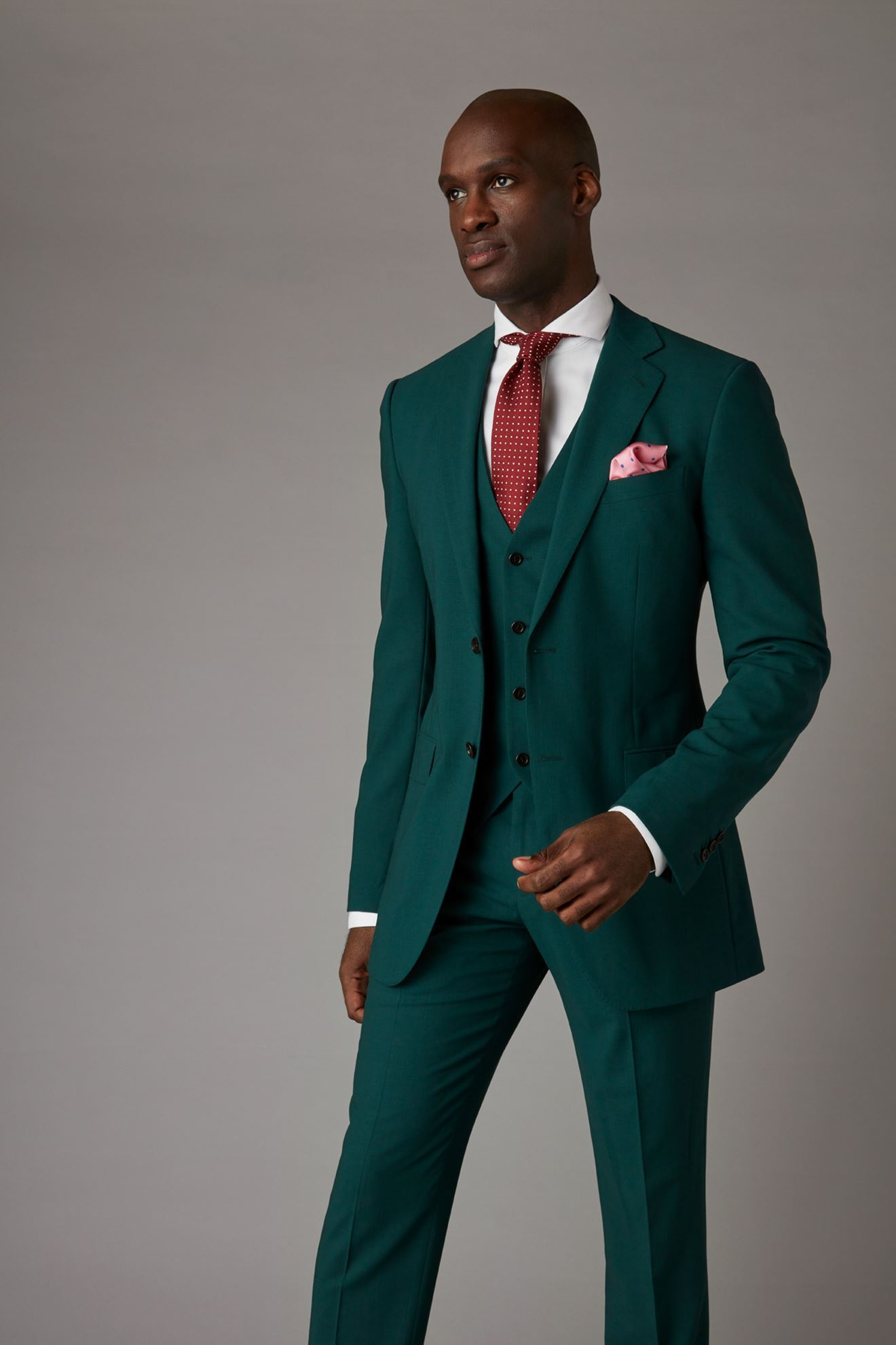 Picture of Green Three Piece Suit