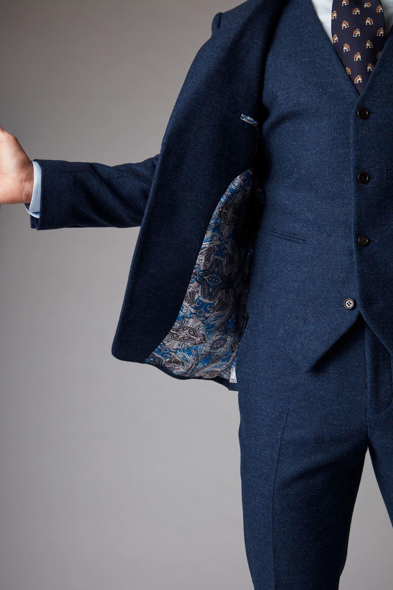 Blue Jacket Inner Lining