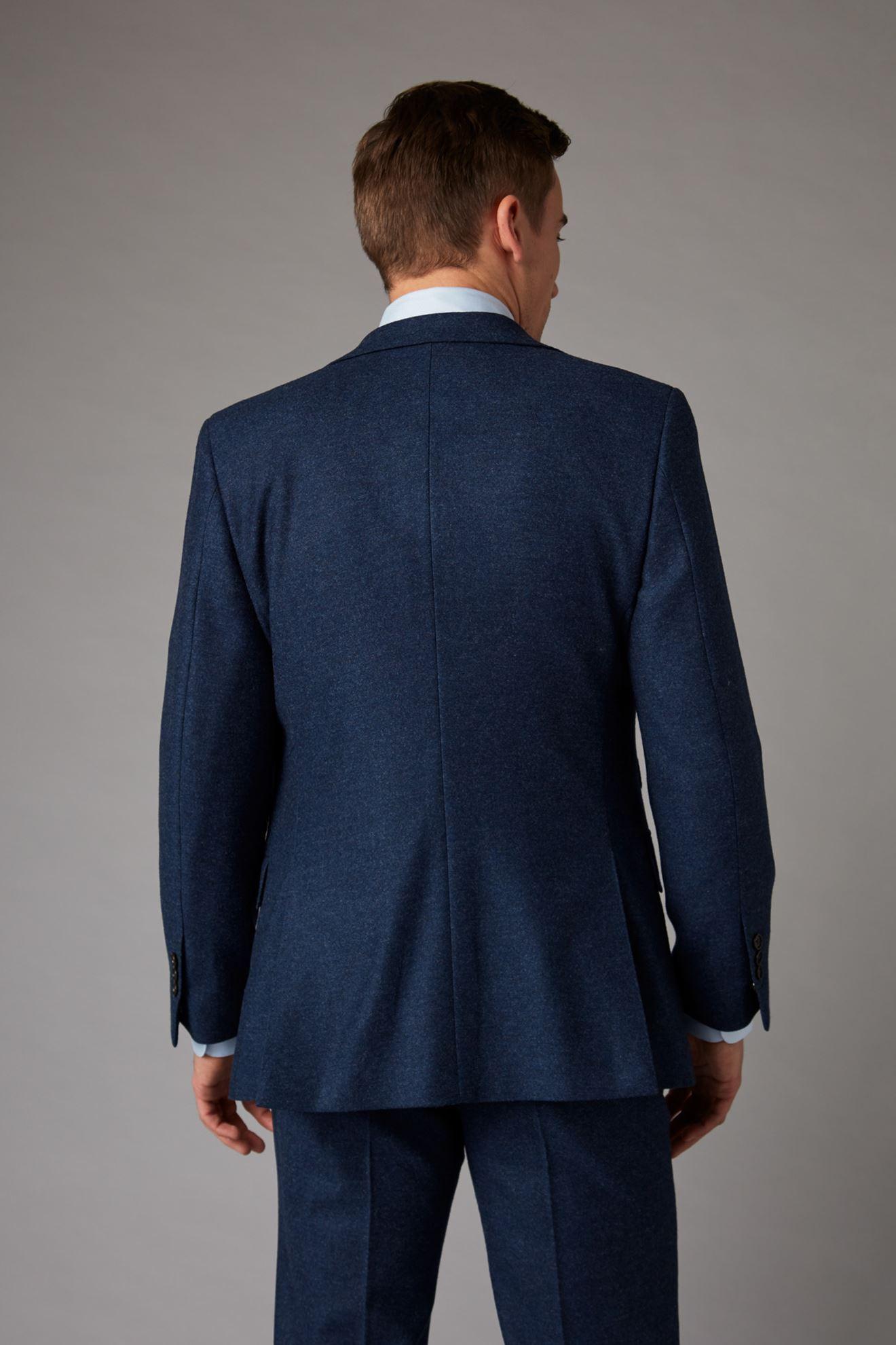 Blue Tweed Jacket Back