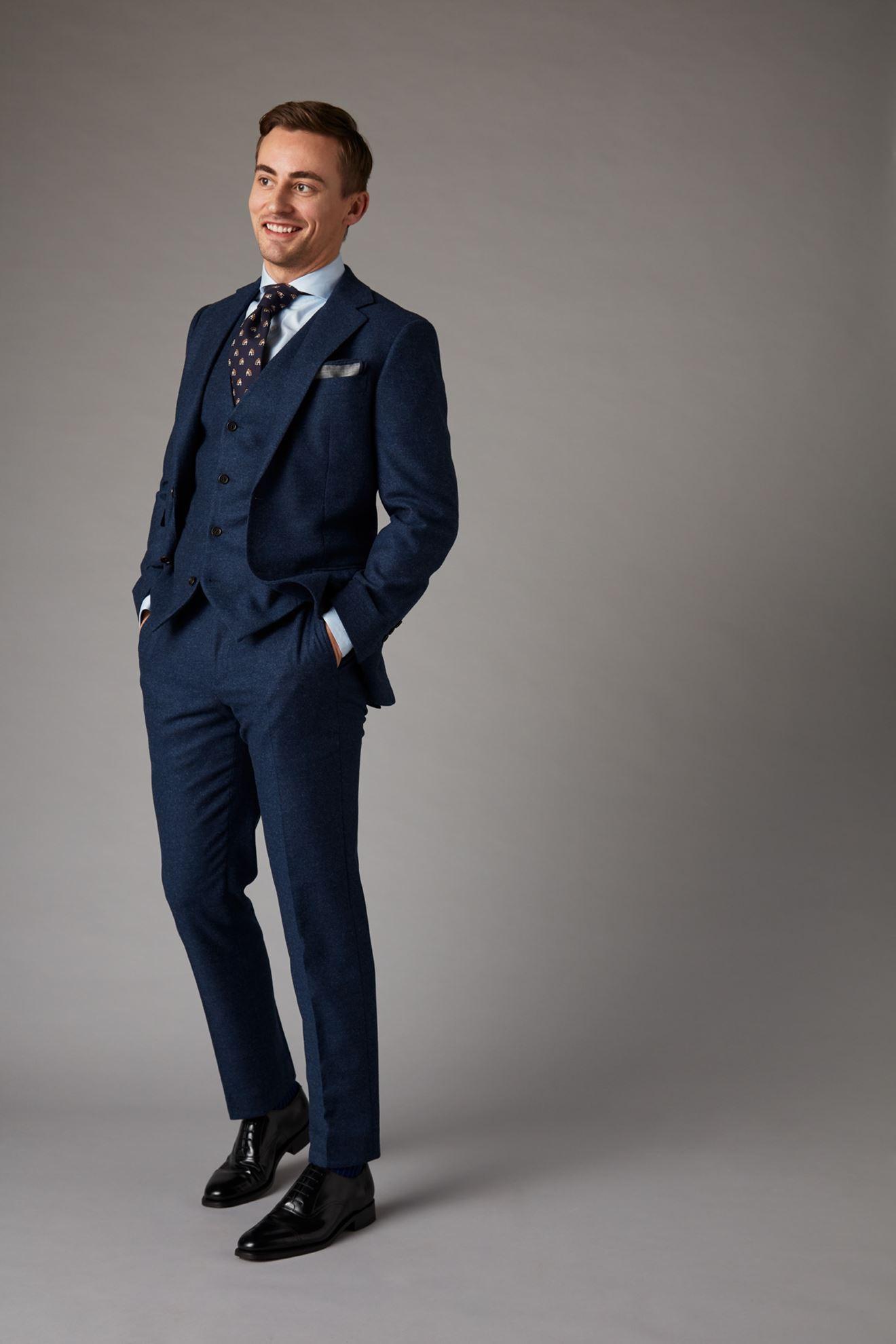 Blue Tweed Jacket Front