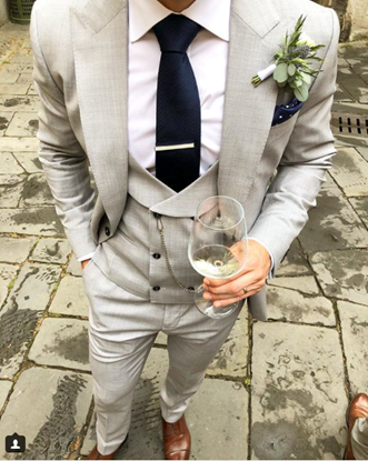 Picture of Grey Three Piece Suit