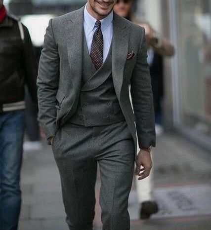 Picture of Grey Peaky Winter Three-Piece Suit
