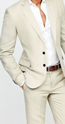 Picture of Sand-coloured two piece suit