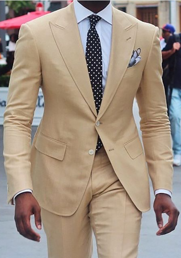 Picture of Beige two-piece suit